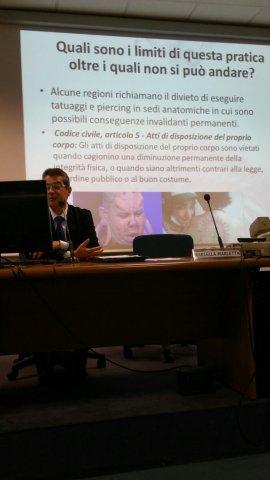 Foto 1° Convegno italiano su LA PRATICA DEL PIERCING - 2015